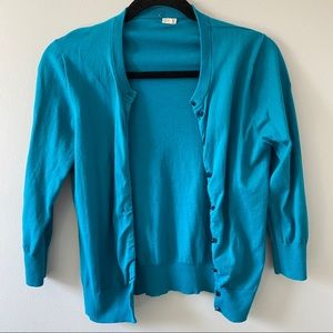 🆕 J. Crew teal cardigan size medium